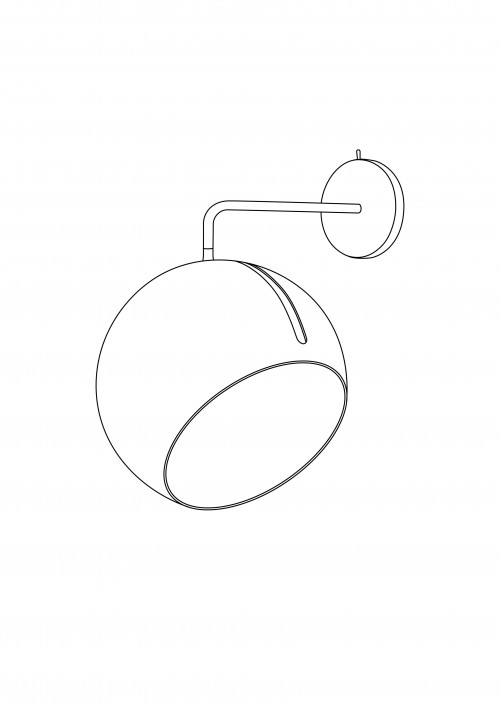 Nyta Tilt Globe Wall without cable graphic