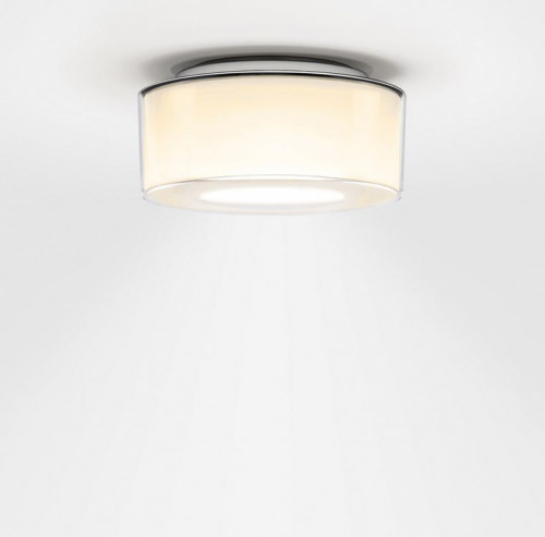 Serien Lighting Curling Ceiling Acryl clear / cylindrical opal M