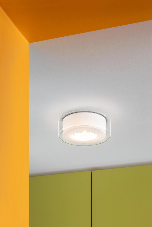 Serien Lighting Curling Ceiling Led Clear Cylindrical Opal Ceiling Lights At Office Lamps