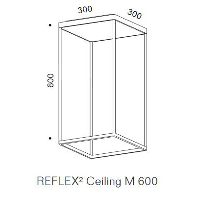 Serien Lighting Reflex2 Ceiling M600 graphic body