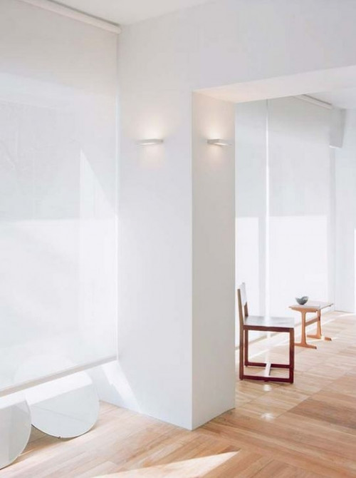 Serien Lighting SML Wall silver small cover satinee