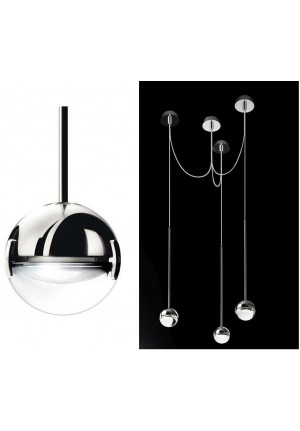 Cini & Nils Convivio pendant lamp 3-lights LED chrome