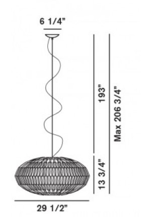 Foscarini Tropico Ellipse spare part