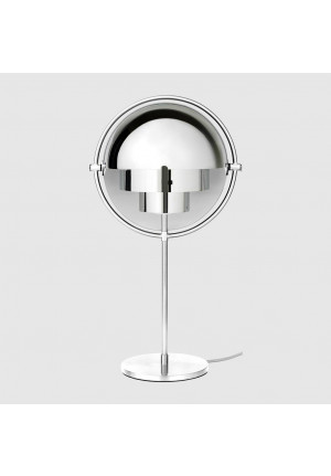 GUBI Multi-Lite Table Lamp Chrome, shade white