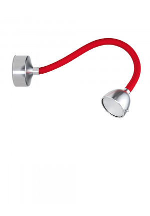 Less'n'more Fyps Wall / Ceiling Light arm red, head and canopy aluminum