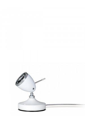 Less'n'more Ylux Floor Spotlight head glossy white, base concrete white