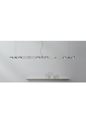 Licht im Raum Ocular 6 Low-voltage brushed stainless steel