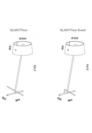 Serien Lighting Slant Floor and Slant Floor Event spare shade