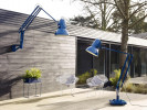 Anglepoise Original 1227 Giant Outdoor Floor Lamp blue (at the right)