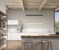 The Bover Drop Linear S/09L has nine lampshades, but this picture shows only five