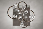 Vistosi Armonia SP 50 Version 3, glasses crystal/crystal, ring black/copper (left and right)