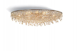 Crystal Rain Ceiling Lamp oval