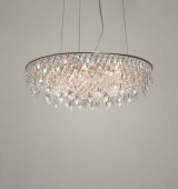Crystal Rain Pendant Lamp oval