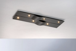 Wave rectangular 6-lights