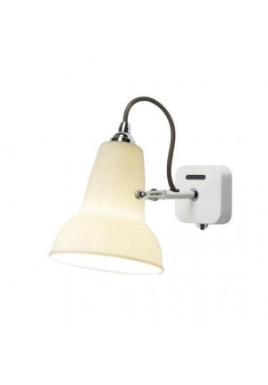 Anglepoise Original 1227 Mini Ceramic Wall Light switched on