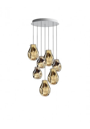 Bomma Soap chandelier with 7 lamps gold