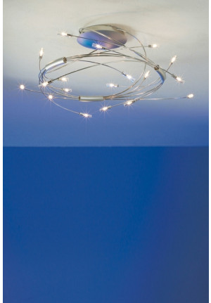 Escale Spin 18-light mat chrome / polished stainless steel