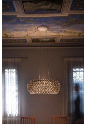 Foscarini Caboche Sospensione Grande LED transparent
