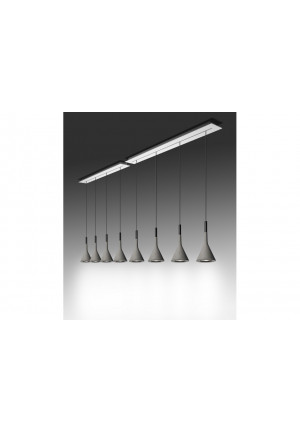 Aplomb Sospensione elongated multiple canopy 135cm 5 lamps