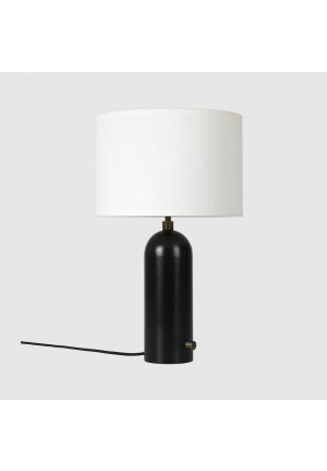 GUBI Gravity Table Lamp S version 1, shade white, base steel
