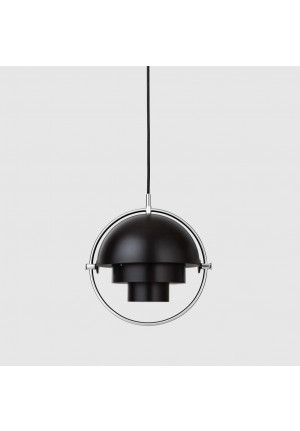 GUBI Multi-Lite Pendant Small Chrome, shade black
