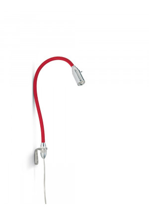 Less'n'more Zeus Wall Light flexible arm red