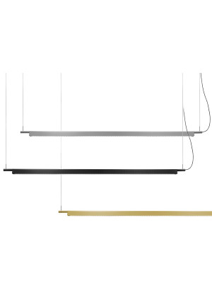 Luceplan Compendium Suspension alu, black and brass