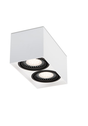 Mawa 111er square 2-lamps LED, switchable white