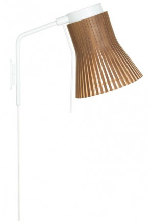 Secto Design Petite 4630 walnut with plug lead