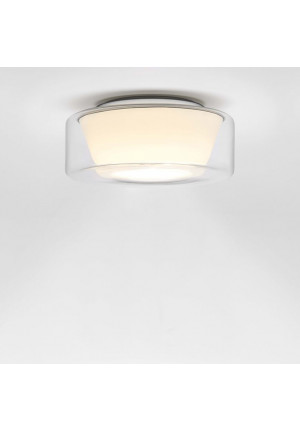 Curling Ceiling LED clear/ conical opal