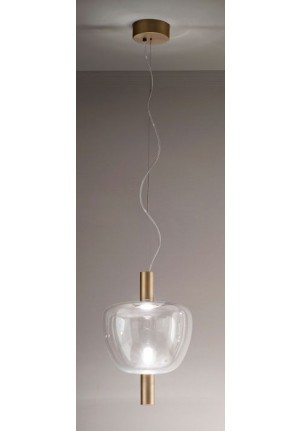 Vistosi Riflesso SP 3 brass, shade crystal