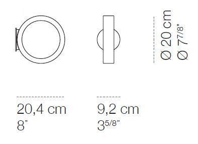 Cini & Nils Assolo wall and ceiling lamp graphic with round wall plate (on request available)