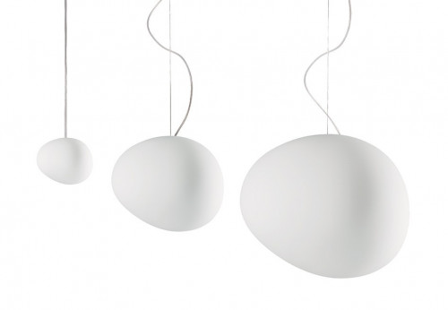 Foscarini Gregg Sospensione Grande white (at the right)
