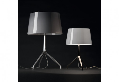 Foscarini Lumiere XXL cool grey alu and XXS white chrome black