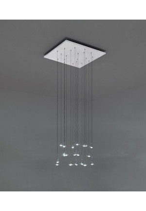 Catellani and Smith Jackie O Chandelier 15/20/24 with square canopy