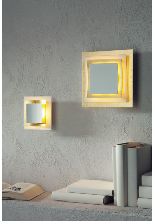 Escale Pages wall lamp gold leaf (at the left side)