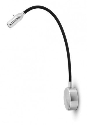 Less'n'more Zeus Wall Light Z-BWL2 aluminum, flex arm textile black