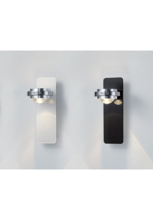 Licht im Raum Ocular Wall Lamp Glass Low-voltage white and anthracite