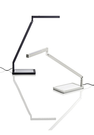 Luceplan Bap LED table base black and white