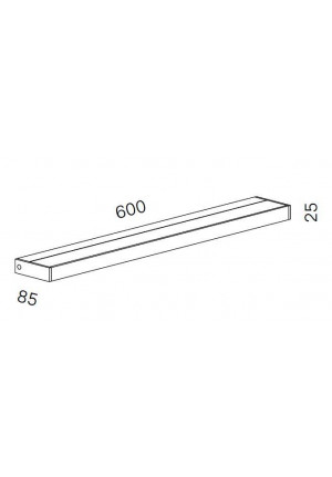 Serien Lighting SML2 Wall 600 White