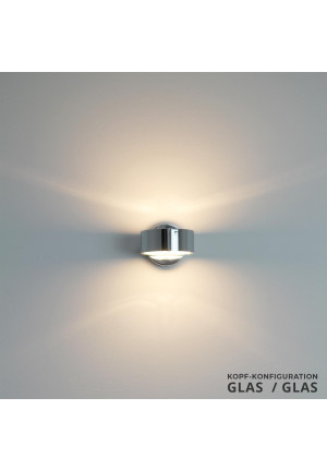 Top Light Puk Wall Halogen glass/glass chrome