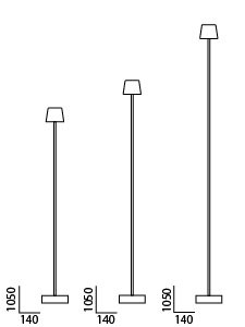 Anta Cut Floor lamp black graphic
