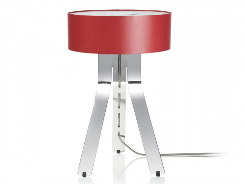 Byok Fino shade red, base aluminum polished