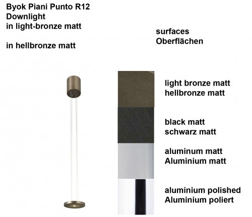 Byok Piani Punto R12 Downlight surfaces