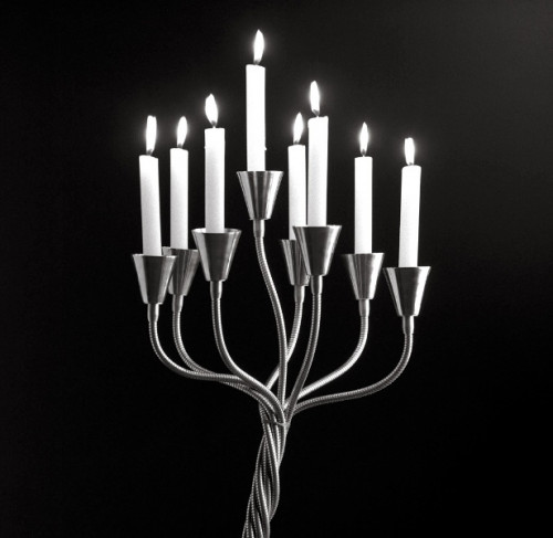Catellani & Smith Kyrie Eleison lamp head with candles