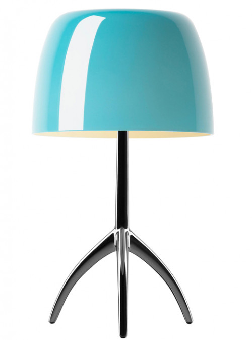 Foscarini Lumiere 05 Piccola turquoise frame chrome black off-switched