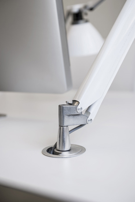 Luceplan Fortebraccio Table and Wall fixing pin for recessed light white