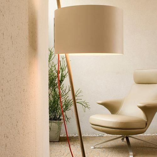 Lumini Lift shade white, cable red