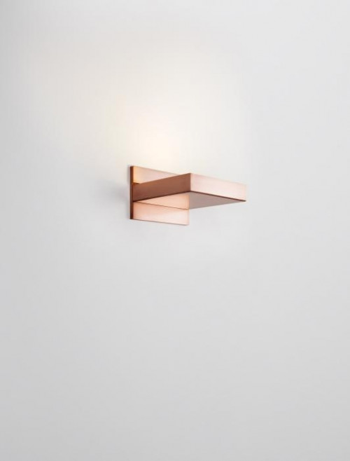 Lumini Mini Plate LED copper with mounting plate