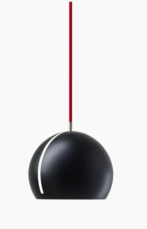 Nyta Tilt Globe black, cable red